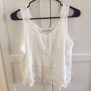 NWT White Lace Crop Top